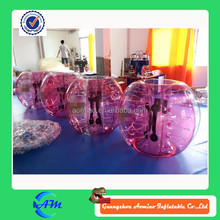 human sized soccer bubble ball color TPU inflatable bubble balls for sale