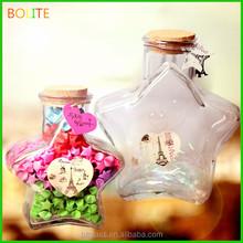50ml 100ml wooden cork star glass jar for candy