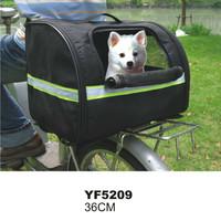 Reflective Stripe Oxford Waterproof Bike Pet Carrier