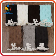 solid color baby leg warmers womens knitted fashion leg warmers