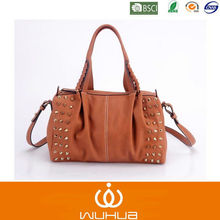 2014 Latest Quality Studded Pu Handbag/Satchel Bags