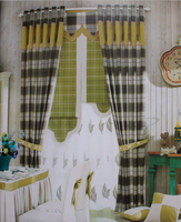 new style blinds curtains, sheer fabrics for curtains,modern style house printed curtain