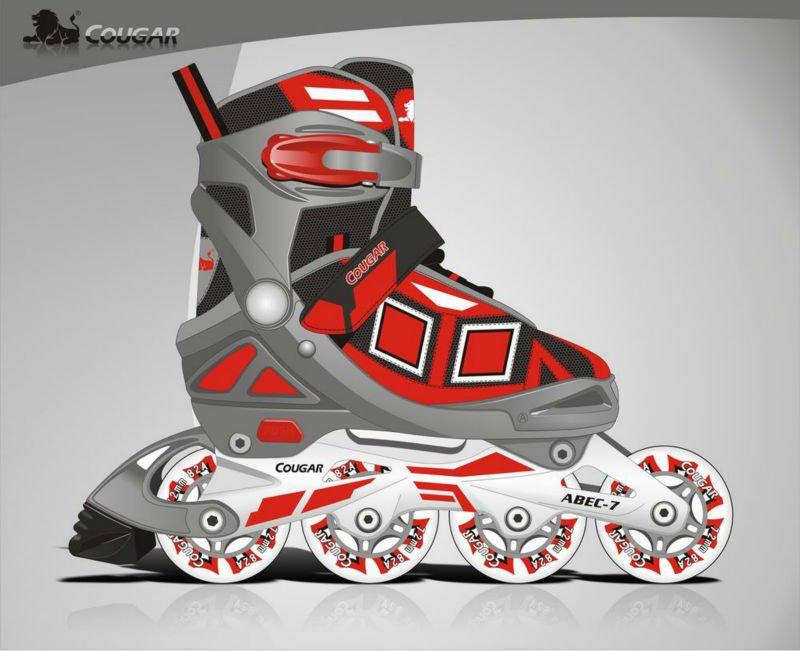 de haute qualité quad skate réglable