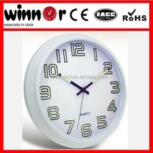 12 inch round plastic luminous night light wall clock,clock radio,led digital clock