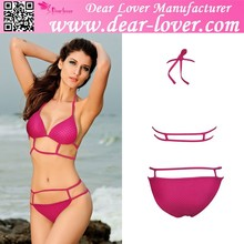 Hot japan Girl Rose Fashion Strappy Bikini Swimwear
