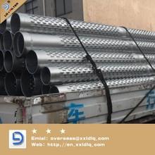 Low carbon steel galvanized bridge type water well slot screen pipe