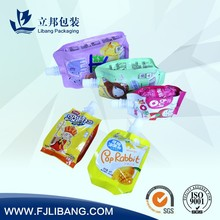 pouch with spout for fruit juice packing,plastic food packaging bag