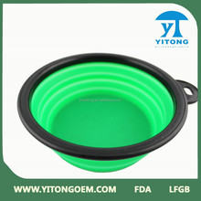 Pet Dog Water Food Feeding Bowl Travel Folding Retractable Silicon Ge