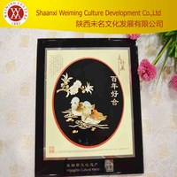 Chinese Folk Art Wheat Straw Patchwork Wall Picture Green and Environmental Protection