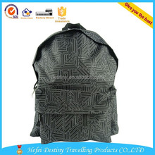 china wholesale good quality fashional printing backpack with earphone hole