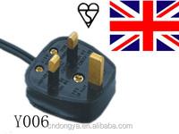 eu to uk plug adapter H03VV-F 3x0.75mm2 3pin BS plug to IEC C7 AC UK power cord