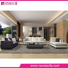 Living room furniture brown and white Cloth modern classic sofa