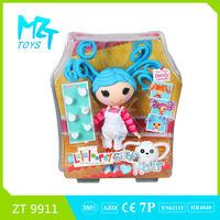 2015 New !Eco-friendly Button Girl(PVC Hair)+accessories barbie doll (2 model mixed)