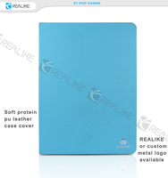New arrival soft protein pu leather severn colors available colorful tablet case for ipad pro