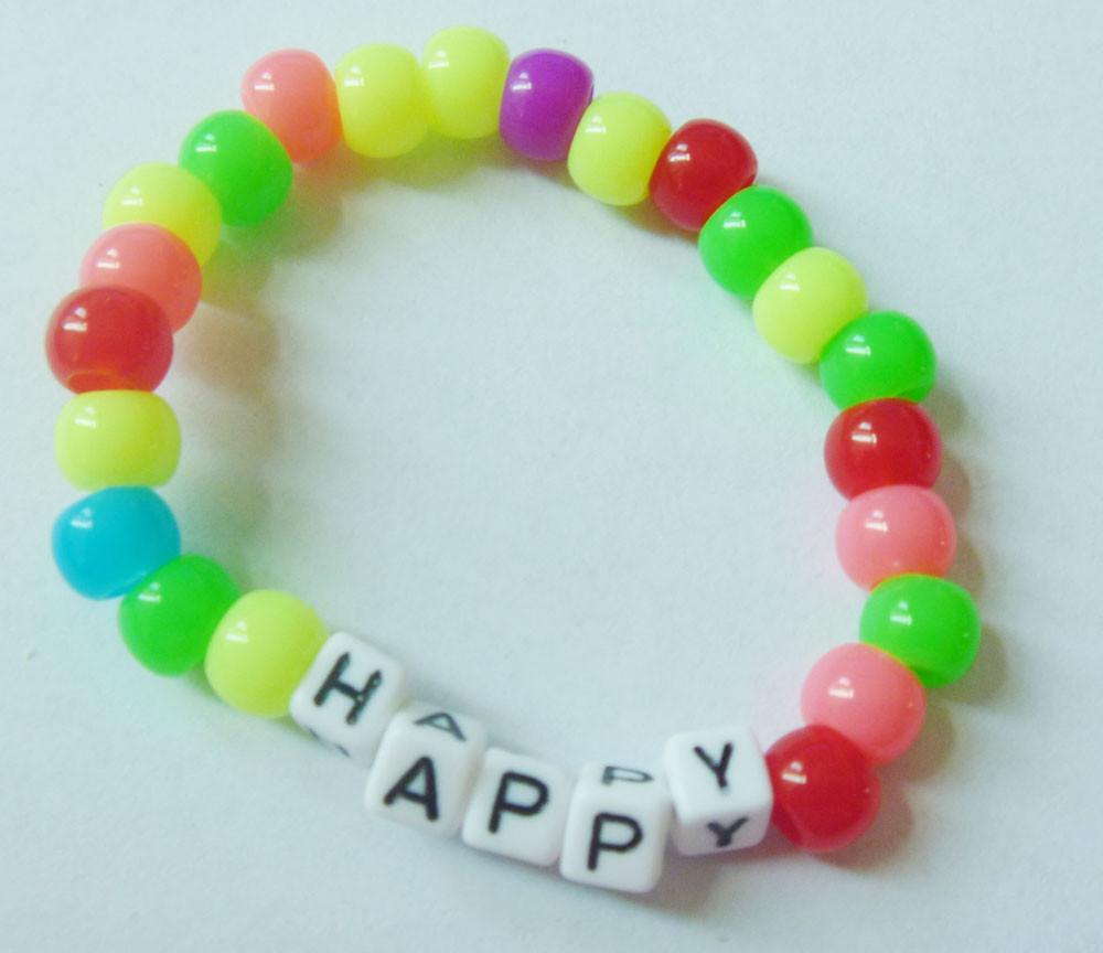2015 Kids Jewelry Elastic Love Bracelet Candy Beads Diy