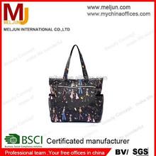 Art girl printing polyester waterproof tote bag from China,fashion handbag