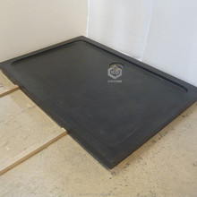 Large black granite shower pan