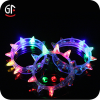 2015 Promotional Gifts Cool Novelty Free Sample Led Flashing Colorful Plastic Fashion Glow Bracelet