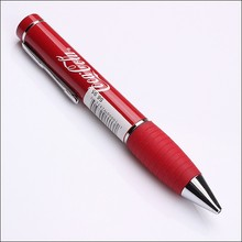 Big and red grip promotional gift metal ball pen with white logo