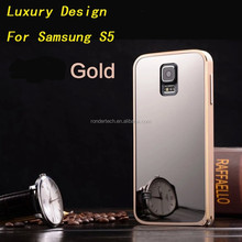 Mobile phone hybrid case for Samsung Galaxy S5 mirror back cover case
