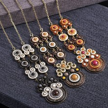 Unique personality necklace jewelry with ethnic style and cheap price