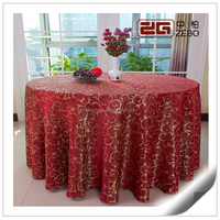 High Grade 100% Polyester Washable Factory Price Gold Sequin Tablecloth