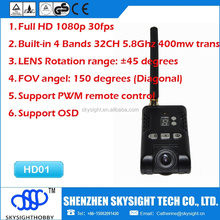 Full HD 1080p 30fps 5.8G 400mw 32ch wireless FPV transmitter with Camera Support OSD connector excellent for drone fpv