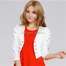 Hot Selling Solid Color Beads Short Women's Coat
