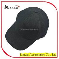 mens fashion promotional denim sport cap with plastic button