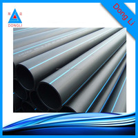 Factory price ISO9001 hdpe water pipe 0.8MPa 250mm black pe pipes