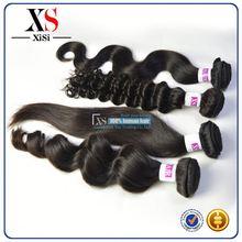 Full Cuticle indian hair distributors wrap around human hair ponytail