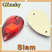 SIAM 13x22mm Teardrop Flatback Sew On Glass Stone crystal rhinestone for dresses rhinestones to decorate cell phone