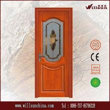 Sencillo diseño de lujo clásicos puertas interiores de madera