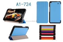 CY Karst Pattern 3-folding Leather Case For Acer Iconia Talk S A1-724