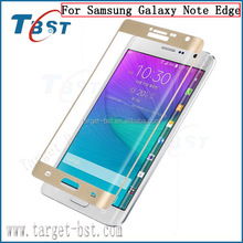 Factory Supply! 2015 new arrival hot selling 3d curved tempered glass screen protector for Samsung Galaxy Note Edge