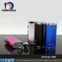 The new arrival wholesale VV/VW box mod defender 50w starter kit with external 1850battery