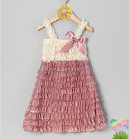 2015 new design beautiful lace dress wholesale baby lace dress
