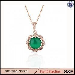 Noble Women Jewelry Wholesle Necklace 18k Gold Emerald Jewellery