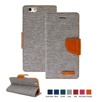 2015 Hot Sale Cowboy Style PU Case for Lastest Sumsung & iPhone Leather Case