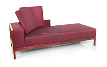 Alime custom red fabric lounge chaise sofa bed for commercial hotel bedroom and living room furniture ALC607