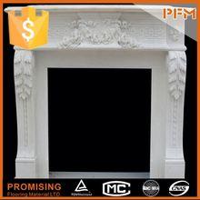natural well polished beautiful decorative fireproof fireplace