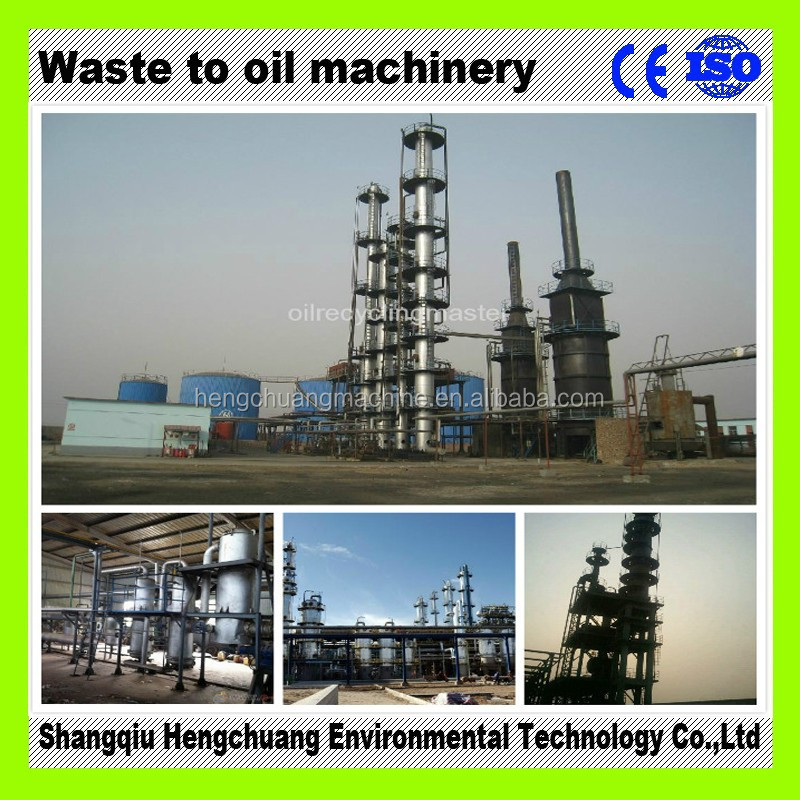 The Newest Generation Continuous Used Motor Oil Recycling Plant With 85 Diesel Oil Output