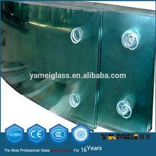 2014 nueva tecnología templado de vidrio de la puerta de entrada
