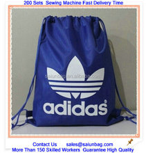Customized nylon polyester Backpack Drawstring bag ,CMYK printing organic cotton drawstring bag,