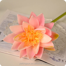 China Cheap Eco-friendly High-quality Artificial PU Lotus Flowers for Wedding Decoration Home Decoration