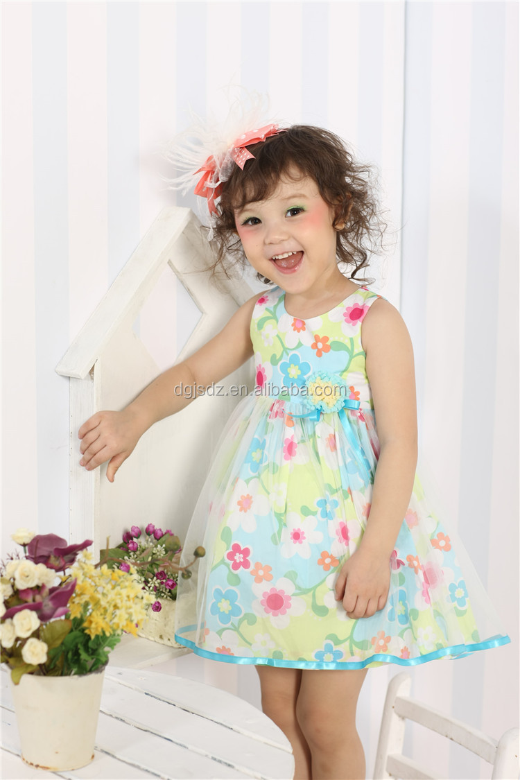 new girls cotton dress materials nature casual baby girl dresses