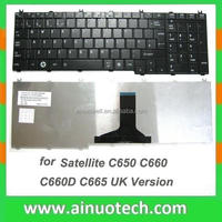genuine laptop keyboard for P750 P755 A660 A665 A600D US laptop keyboard RU BR FR TR IT SP LA AR GR UK US PO JA GR