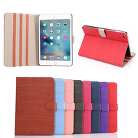 for iPad Mini 4 retro style Folio Leather cover Case with belt clip