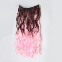 Fashion 5 Clips-on Synthetic Hair Extension Two-tone Color Hairpiece 19 Colors