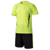 2015 hot sale men soccer jersey set football blank jersey training suit sport short design set(YX-3158G)
